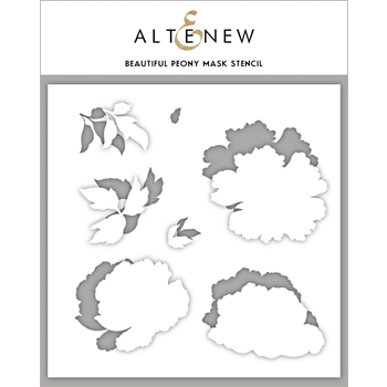 Altenew BEAUTIFUL PEONY Mask Stencil ALT3005