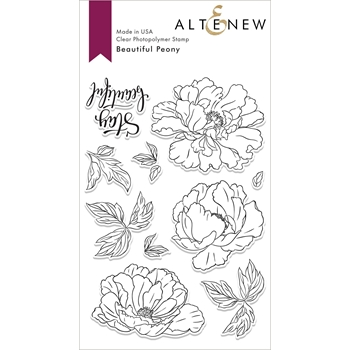 Altenew BEAUTIFUL PEONY Clear Stamps ALT3003