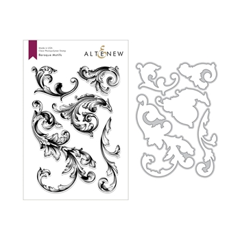 Altenew BAROQUE MOTIFS Clear Stamp and Die Bundle ALT3001