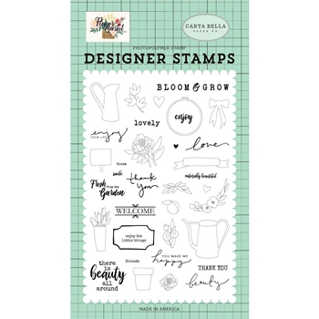 Carta Bella BEAUTY ALL AROUND Clear Stamp Set cbmk96045