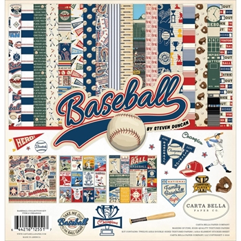 Carta Bella BASEBALL 12 x 12 Collection Kit cbba95016