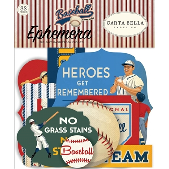 Carta Bella BASEBALL Ephemera cbba95024