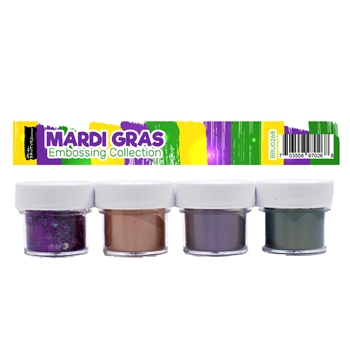 Brutus Monroe MARDI GRAS Embossing Powder Collection bru0268