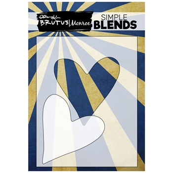 Brutus Monroe SIMPLE BLEND HEART Stencil and Mask bru0190