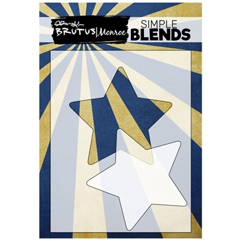 Brutus Monroe SIMPLE BLEND STAR Stencil and Mask bru0206