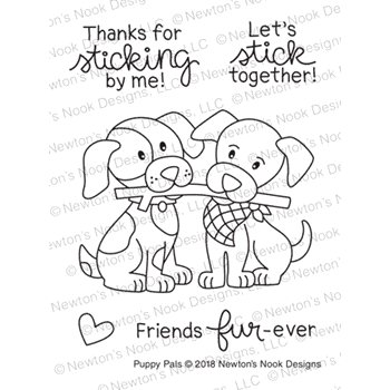 Newton's Nook Designs PUPPY PALS Clear Stamps NN1808S07