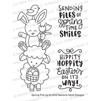 Newton's Nook Designs SPRING PILE UP Clear Stamps NN1902S04