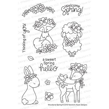 Newton's Nook Designs WOODLAND SPRINGS Clear Stamps NN1902S02