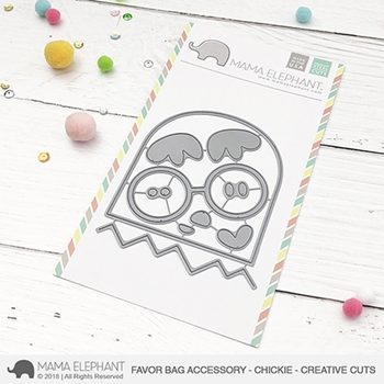 Mama Elephant FAVOR BAG ACCESSORY CHICKIE Creative Cuts Steel Dies