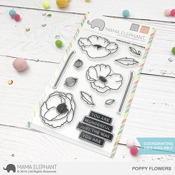 Mama Elephant Clear Stamps POPPY FLOWERS