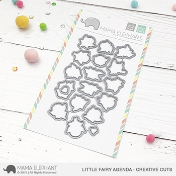 Mama Elephant LITTLE FAIRY AGENDA Creative Cuts Steel Dies
