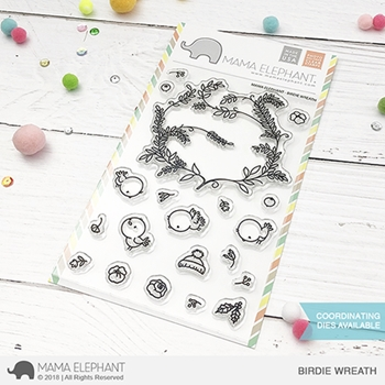 Mama Elephant Clear Stamps BIRDIE WREATH