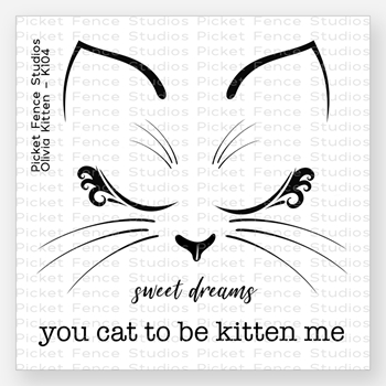Picket Fence Studios OLIVIA KITTEN Clear Stamp Set k104