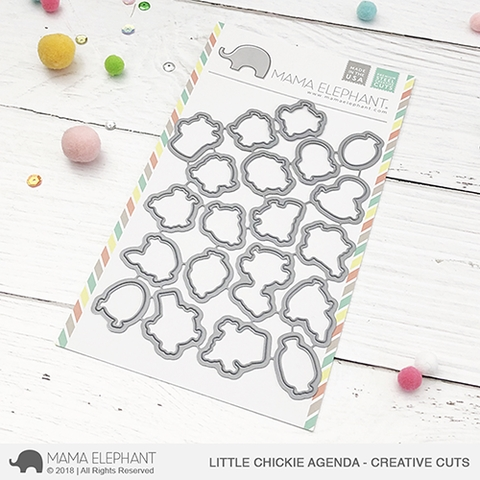 Mama Elephant LITTLE CHICKIE AGENDA Creative Cuts Steel Dies Preview Image