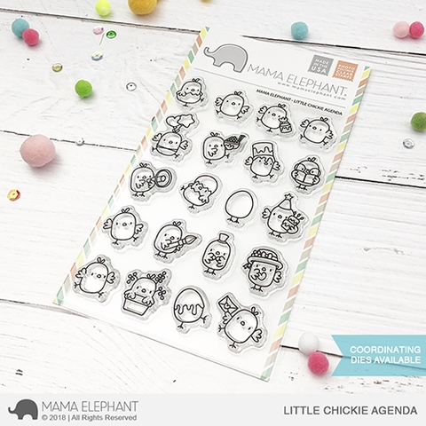 Mama Elephant Clear Stamps LITTLE CHICKIE AGENDA Preview Image