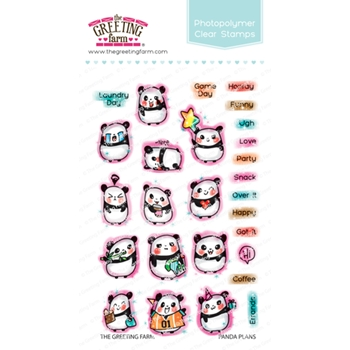 The Greeting Farm PANDA PLANS Clear Stamps TGF460