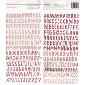 American Crafts Amy Tangerine BE KIND Alphabet Thickers Stickers Stay Sweet 351206