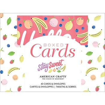 American Crafts Amy Tangerine STAY SWEET Boxed Cards 351973