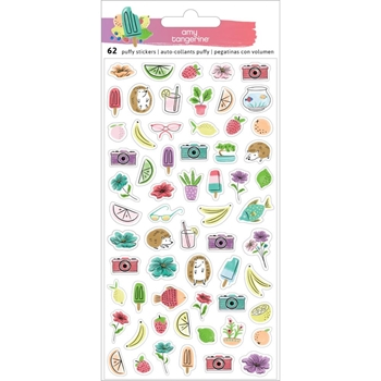 American Crafts Amy Tangerine STAY SWEET Mini Puffy Icons Stickers 351210