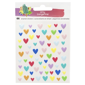 American Crafts Amy Tangerine HEARTS Stay Sweet Epoxy Stickers 351212