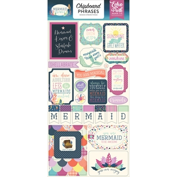Echo Park MERMAID DREAMS Chipboard Phrases mdr175022