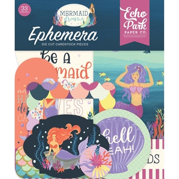 Echo Park MERMAID DREAMS Ephemera mdr175024