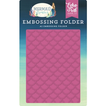 Echo Park MERMAID SCALES Embossing Folder mdr175031