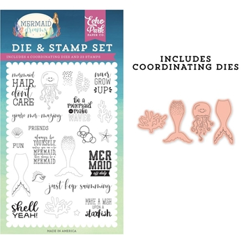 Echo Park BE A MERMAID Die And Stamp Set mdr175040