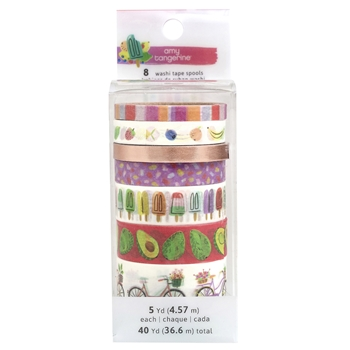 American Crafts Amy Tangerine STAY SWEET WASHI TAPE Spools 351201