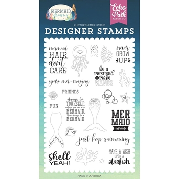 Echo Park BE A MERMAID Clear Stamps mdr175041