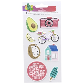 American Crafts Amy Tangerine STAY SWEET Puffy Embossed Icons Stickers 351209