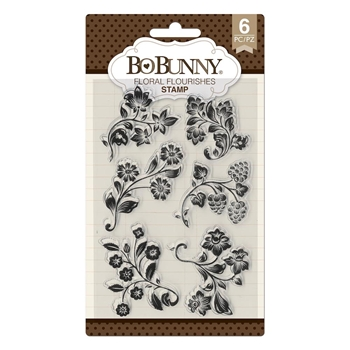 BoBunny FLORAL FLOURISHES Clear Stamps 7310528