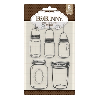 BoBunny JARS OF LOVE Clear Stamps 7310533