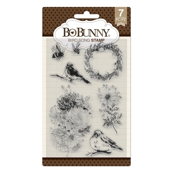 BoBunny BIRD SONG Clear Stamps 7310538