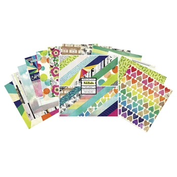 American Crafts Vicki Boutin COLOR KALEIDOSCOPE 12x12 Inch Paper Pad 351099