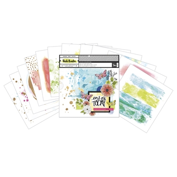 American Crafts Vicki Boutin READY TO USE MIXED MEDIA PAPER Color Kaleidoscope 346538