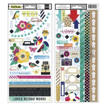 American Crafts Vicki Boutin COLOR KALEIDOSCOPE STICKERS 351105