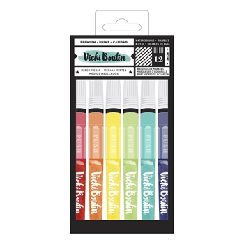 American Crafts Vicki Boutin WATERCOLOR MARKERS Color Kaleidoscope 348216
