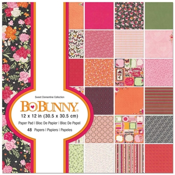 BoBunny SWEET CLEMENTINE 12 x 12 Paper Pad 7310474