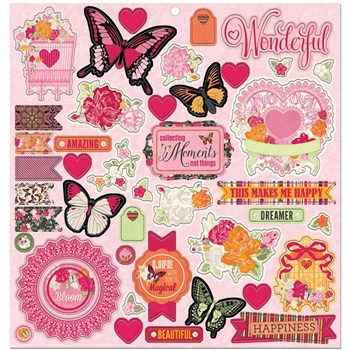 BoBunny SWEET CLEMENTINE Chipboard Stickers 7310475