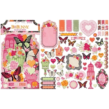 BoBunny SWEET CLEMENTINE Die Cuts Noteworthy 7310439