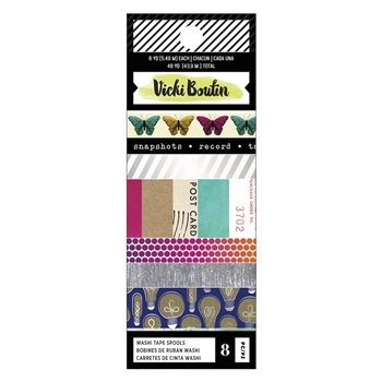 American Crafts Vicki Boutin COLOR KALEIDOSCOPE Washi Tape Spools 351108