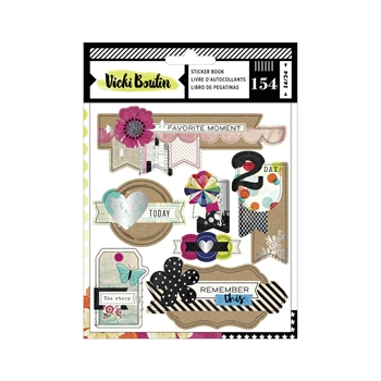 American Crafts Vicki Boutin STICKER BOOK Color Kaleidoscope 351170