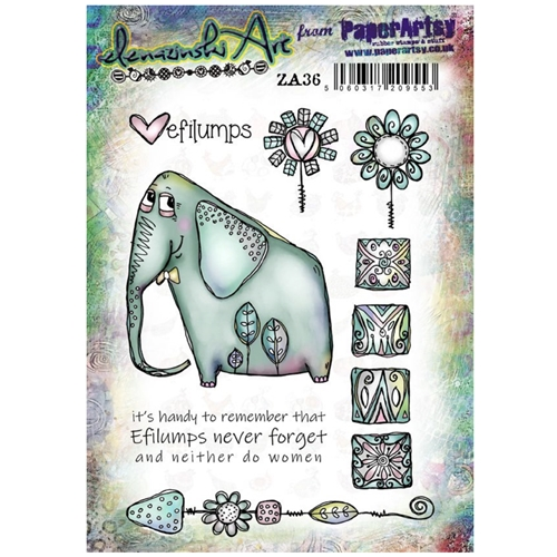 Paper Artsy ZINSKI ART 36 Cling Stamp za36 Preview Image