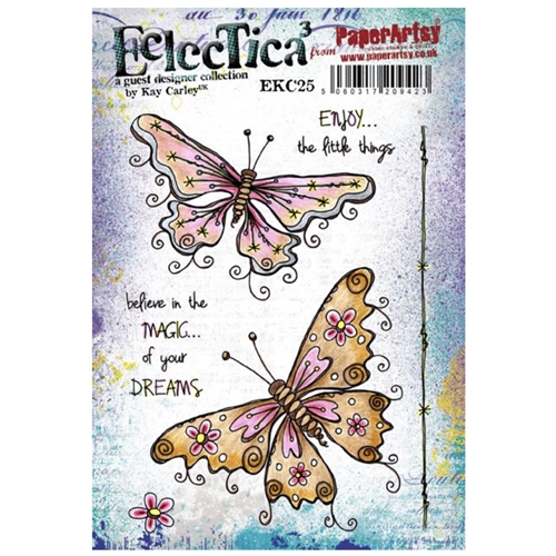 Paper Artsy ECLECTICA3 KAY CARLEY 25 Cling Stamp ekc25 Preview Image