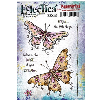 Paper Artsy ECLECTICA3 KAY CARLEY 25 Cling Stamp ekc25
