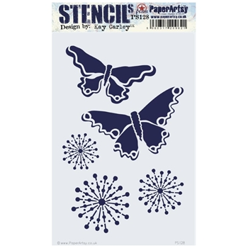 Paper Artsy ECLECTICA3 KAY CARLEY Stencil Large ps128