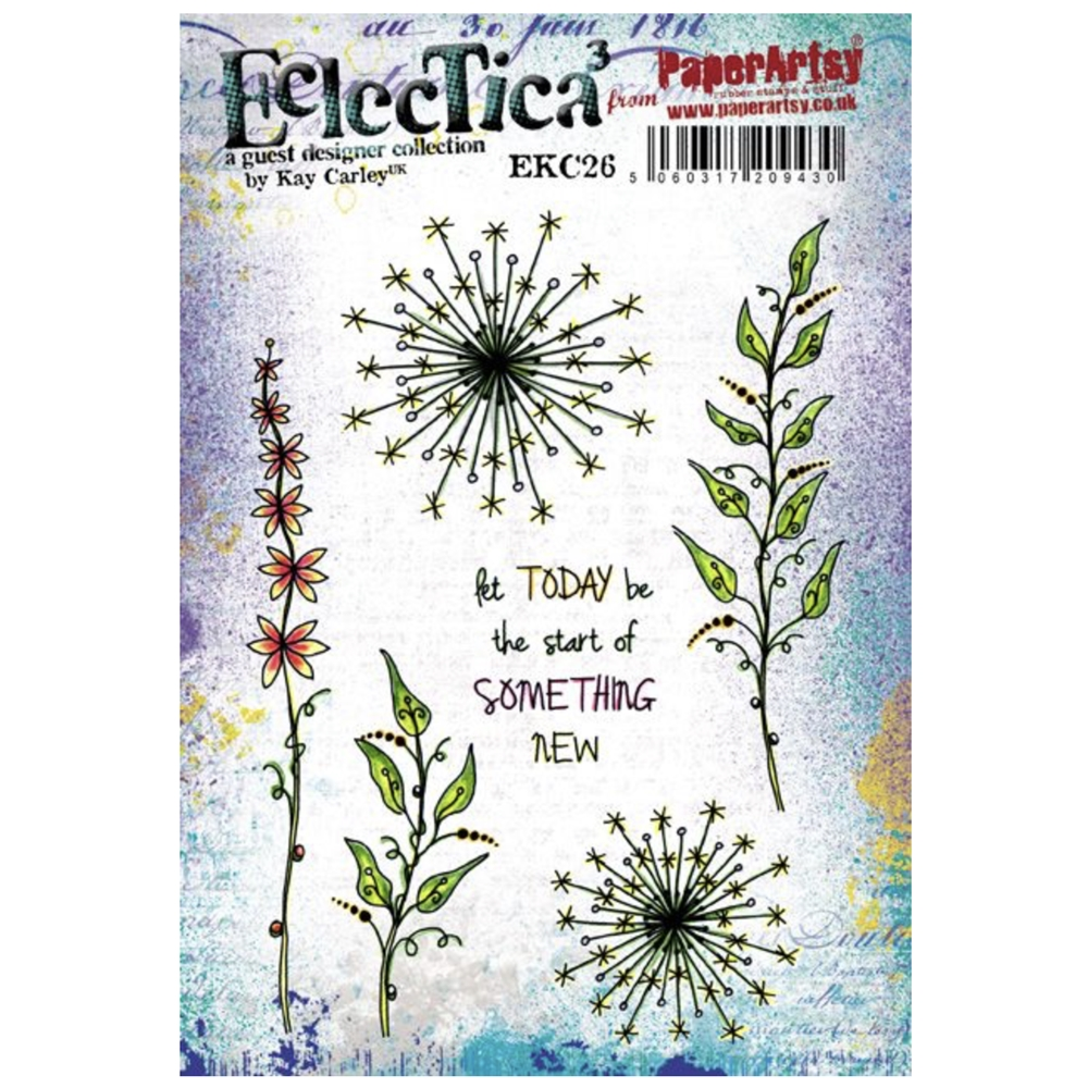 Paper Artsy ECLECTICA3 KAY CARLEY 26 Cling Stamp ekc26 zoom image