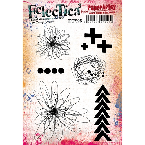 Paper Artsy ECLECTICA3 TRACY SCOTT 25 Cling Stamp ets25 Preview Image