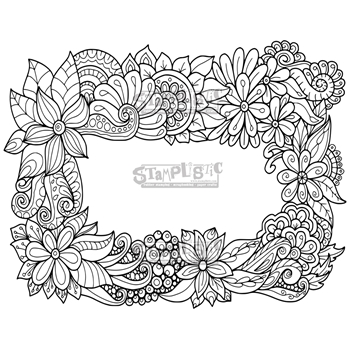 Stamplistic Cling Stamp FLOWER BEDS l180115